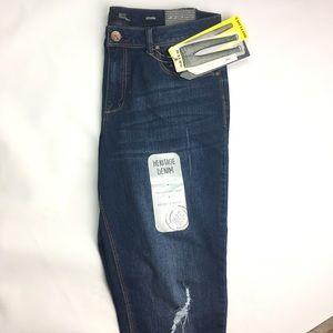 1822 Adrianna Ankle Skinny Denim Jeans Dark Wash💕